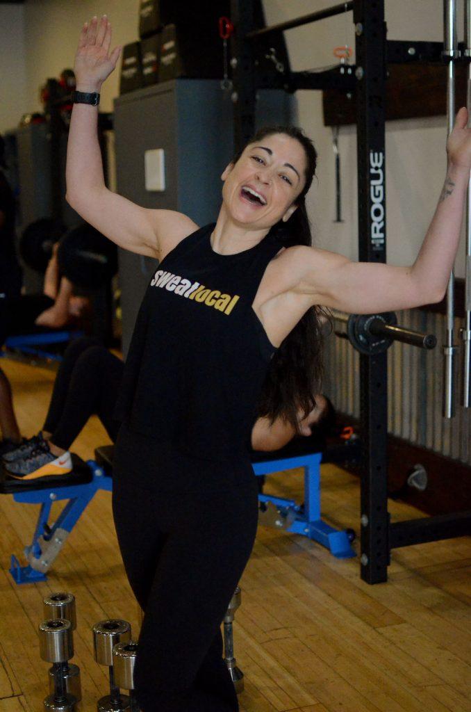 Jeidi Pippins celebrating nine years of sweatlocal